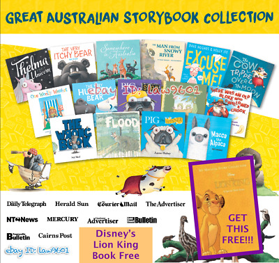 📖 Great Australian Storybook Collection 15 books 📘HERALD SUN + Lion King Story