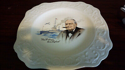 collectable china plates - Winston Churchill - BMC/Nelsonware Made in England