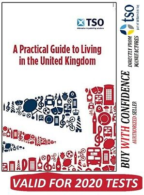 NEW 2020 Official Life in the United Kingdom UK book Citizenship Test Book L-Prc