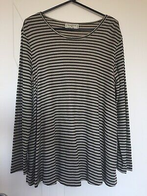 Additions Maternity Wear Long Sleeve Top Large Black Gold