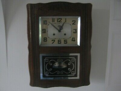 Antique French Art Deco ODO Striking Wall Clock