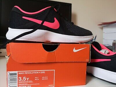 Nike Revolution 4 (GS) Uk3 Trainers Black & Racer Pink Bnib