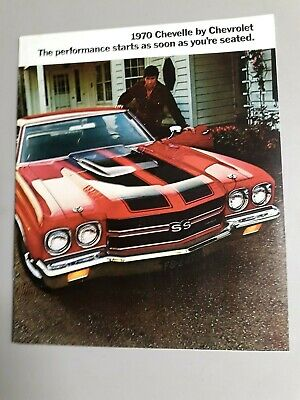 Original Vintage Factory Issued 1970 Chevelle SS 396//454 Sales Brochure//Poster