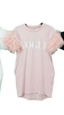 BNWT Girls Childrens Pink Tutu Tulle Sleeve Vogue Dress size 14yrs