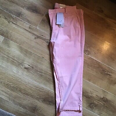 Marks and Spencer Per Una Weekend crop trousers bnwt size 18 stripe.98% Cotton