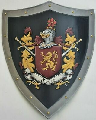 Medieval Coat of Arms shield Hanging medieval knight Heather shield v24