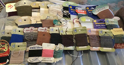 Chadwick's nd Others Mending Wool. Cards 30 New & Used. Vintage job lo