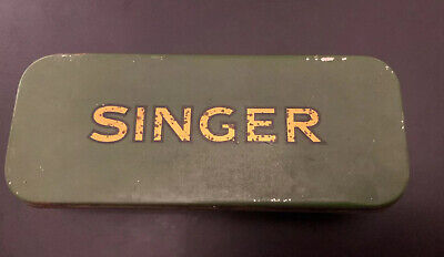 Tin For Vintage Singer Sewing Machine + Manual