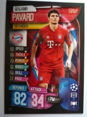 Match Attax 2019/20 Athletico Bayern Munchen Pavard Base Card Comb Post