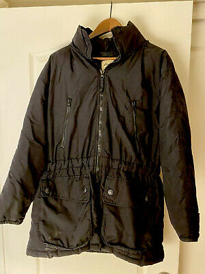 Women's Eddie Bauer Lodge Duffle Down Black Coat Size M