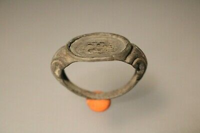Ancient Fantastic Roman Bronze Ring * God Sol 1st - 4th century AD