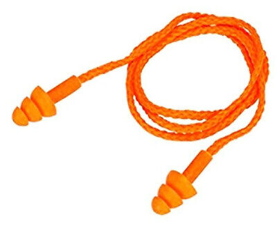 Soft Moulded Reusable Corded Earplugs Hygienic Noise Reducing Ear Plugs