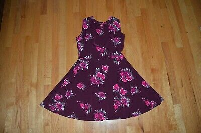 The Childrens Place Girls Floral Ponte Knit Cutout Dress size 16