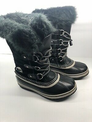 NEW Sorel Joan Of Arctic Youth Waterproof 1855201-013 Black All Sizes