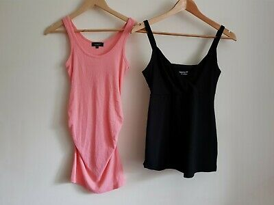 New Look Size 8 and Gap maternity Size S sleeveless vest top bundle (2 items)