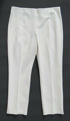 $89 NEW CHICO'S So Slimming Cream Ponte Knit JULIET Straight Pants  3 US XL 16