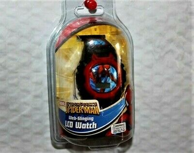 Marvel Spider-Man LCD Wrist Watch Web-Slinging Band N.O.S 2011 Will Need Battery