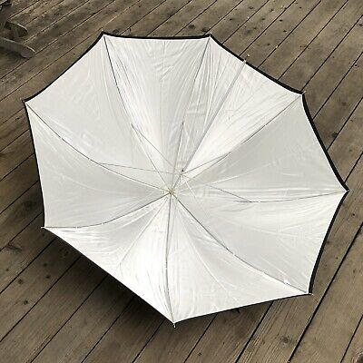 "Westcott Umbrella Style #2021 60"" Optical White Satin/ Black Removable Cover"