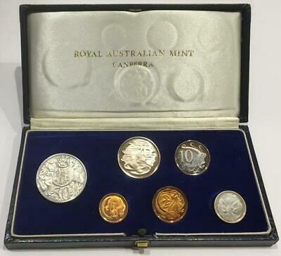 1966 AUSTRALIAN 6 COIN PROOF SET in ORIGINAL DARK BLUE CASE..SCARCE..LOW RESERVE