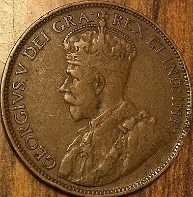 1917 Newfoundland Large Cent Coin Large 1 Cent Penny