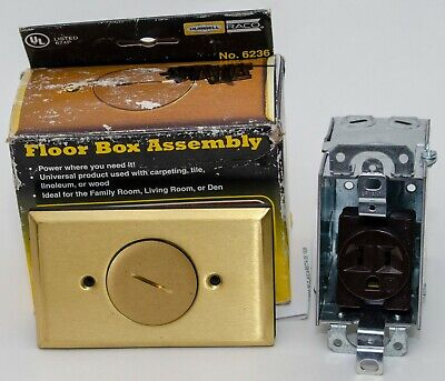 Hubbell Brass Floor Box Assembly (HBL6236)