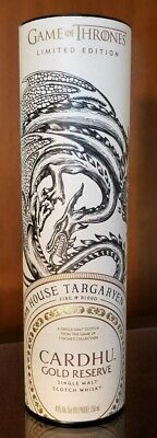 GOT Game of Thrones Limited Edition House Of Targaryen Cardhu Collectible USA ED
