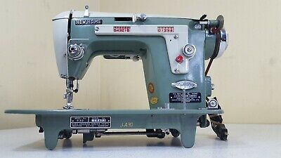 New Home Double Duty Vintage Sewing Machine Model 532 J-A30 Janome Japan Green