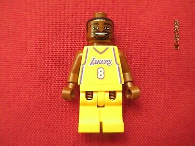 LEGO Kobe Bryant #8 Lakers  Minifigure . Kobe Bryant ,#8 Home Jersey ,Uniform