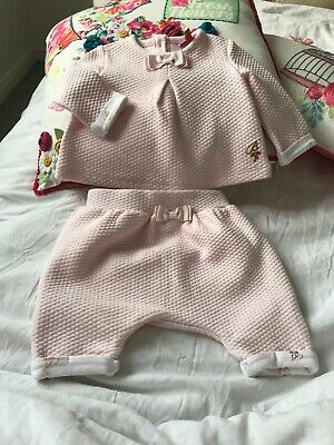 Ted Baker Baby Baker Newborn Girls Matching Set Pink/white/gold