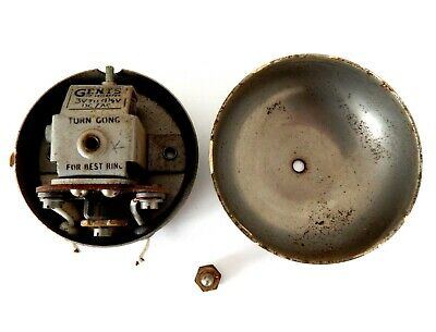 Vintage Gents Of Leicester 3 - 4.5 Volts DC / AC Door Bell Ringer Buzzer #A