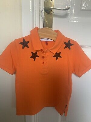 Givenchy Stars Boys Polo Top Authentic Age 4 Small Fit 3 Years