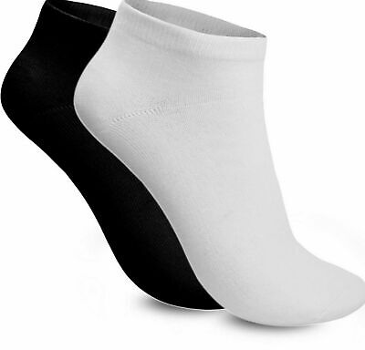 New 3 6 12 Pairs Mens Trainer Liner Ankle Cotton Rich Sports Gym Socks UK