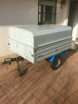 carrello appendice auto con documentazione lung. 1,990 larg.1,2 sponde da 350mm