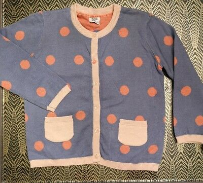 Mamas & Papas Polka Dot Cardigan 4-5 Years - Blue & Pink - NEW - Girls Cardi Top