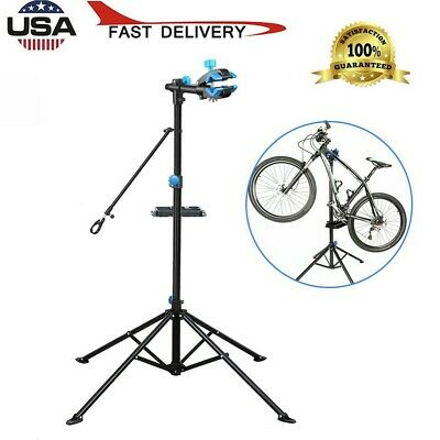 Portable Home Bike Repair Stand Adjustable Height Bicycle Stand Telescopic Arm