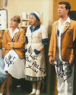 Su Pollard, Jeffrey Holland, Nikki Kelly In Person Signed Photo- Hi-de-Hi!- J274