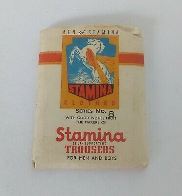 Stamina Trousers Men Of Stamina No 8 Cards And Packet Vintage Card Set