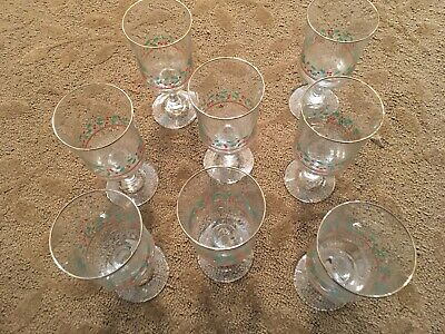 Vintage Arby's 1987 Christmas Holly Berry Glass Collection
