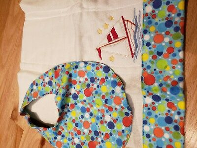Baby Burp Pad and bib