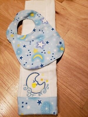 Baby Burp Pad with bib