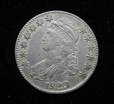 1823 UGLY 3 CAPPED BUST HALF DOLLAR XF+ O-110a REDBOOK VARIETY