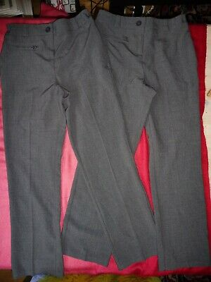 Next Girls Grey Bootleg School Trousers Age 8 Never Used
