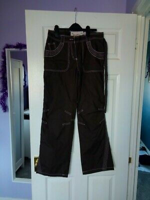 Next girls brown utility trousers BNWT age 16 years