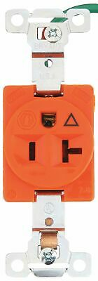 Bryant 20,  Industrial,  Isolated Ground Receptacle,  Orange,  No Tamper