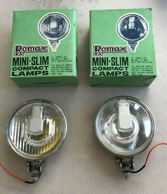 Classic NOS Remax Chrome Spot / Fog Lights Ford Vauxhall Mini Morris Hot Rod Car