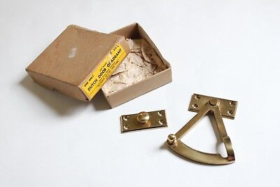 antique dutch door quadrant brass | vtg dutch door lock victorian deco