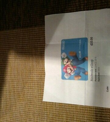 Wii U Nintendo Eshop £15 Voucher NEVER EXPIRES & FAST DELIVERY, ONLY £13