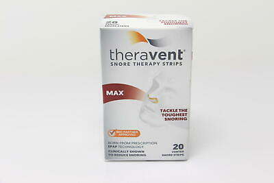 6 PACK Theravent Snore Therapy Max - 20 each EXP 5/20+ U11B