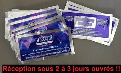 Crest 3D White Luxe Professionnel Patch Dentaire 14 bandes .