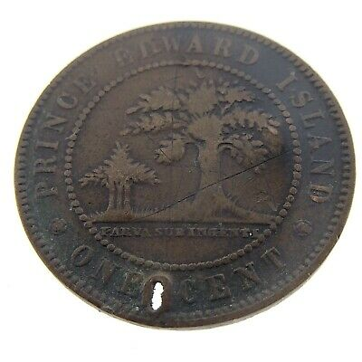 1871 Prince Edward Island PEI One Cent Large Penny Copper Coin Struck N240